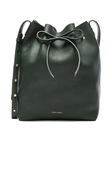 Mansur Gavriel Tumbled Bucket Bag in Moss