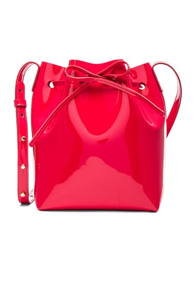 Mansur Gavriel Mini Bucket Bag in Flamma Patent