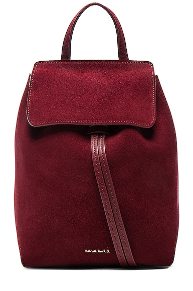Mansur Gavriel Mini Backpack in Rococo Suede