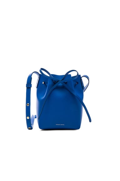 Mansur Gavriel Mini Mini Bucket Bag in Royal