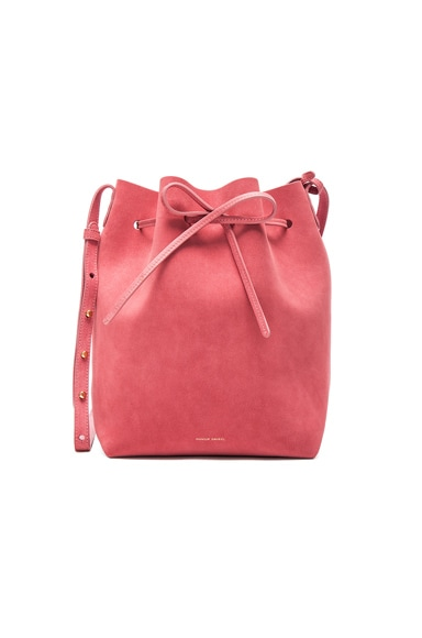 Mansur Gavriel Bucket Bag in Blush Suede