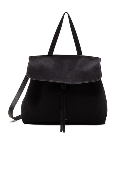 Mansur Gavriel Lady Bag in Black Suede