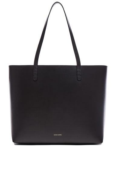 Mansur Gavriel Large Tote in Black & Flamma