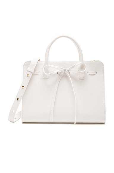 Mansur Gavriel Mini Sun Bag in White Tumble
