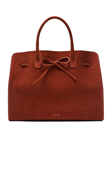 Mansur Gavriel Large Sun Bag in Brick Suede