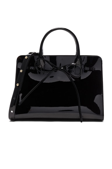 Mansur Gavriel Mini Sun Bag in Black Patent