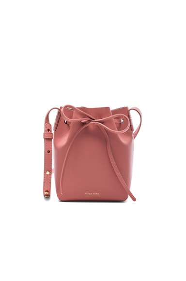 Mansur Gavriel Mini Mini Bucket Bag in Blush Calf