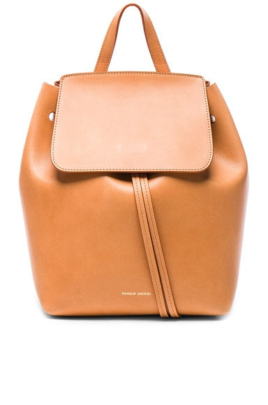 Mansur Gavriel Mini Backpack in Camello & Rosa
