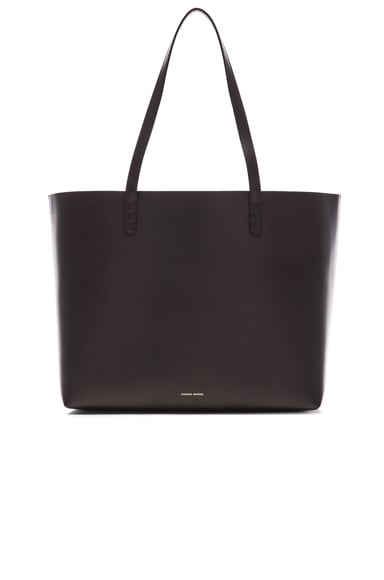 Mansur Gavriel Coated Large Tote in Black & Silver