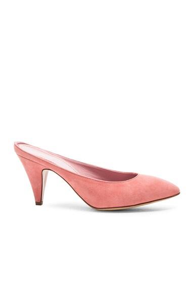 Suede Heel Slippers