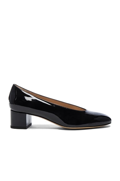 Patent Leather Ballerina Pumps