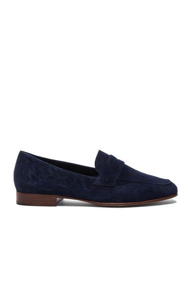 Mansur Gavriel Classic Suede Loafers in Blue