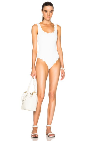 Marysia Swim Palm Springs Swimsuit in Off White
