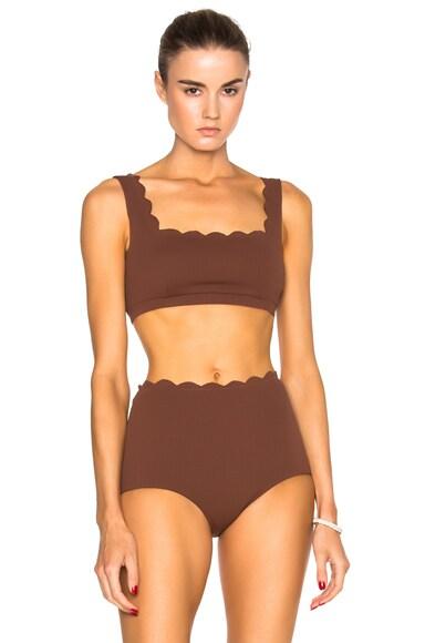 Marysia Swim Palm Springs Bikini Top in Kava