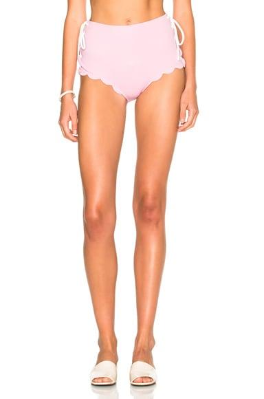 Marysia Swim FWRD Exclusive Palm Springs Lace Up Bikini Bottom in Pale Pink