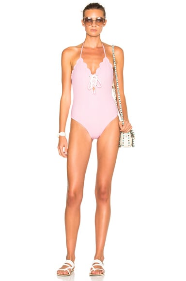 FWRD Exclusive Broadway Lace Up Swimsuit