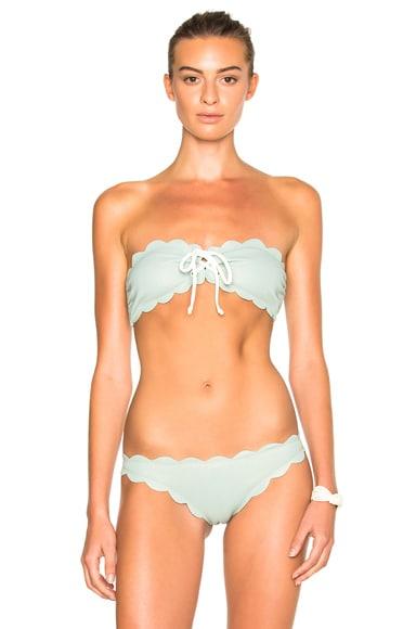 Marysia Swim FWRD Exclusive Antibes Lace Up Bikini Top in Pale Blue