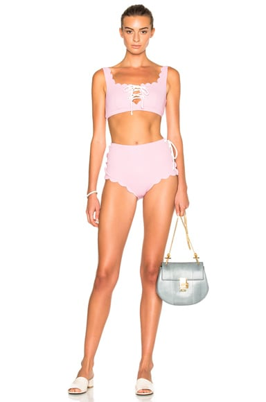 FWRD Exclusive Palm Springs Lace Up Bikini Top