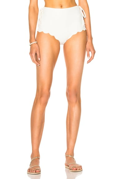 Marysia Swim Palm Springs Tie Bikini Bottom in Coconut