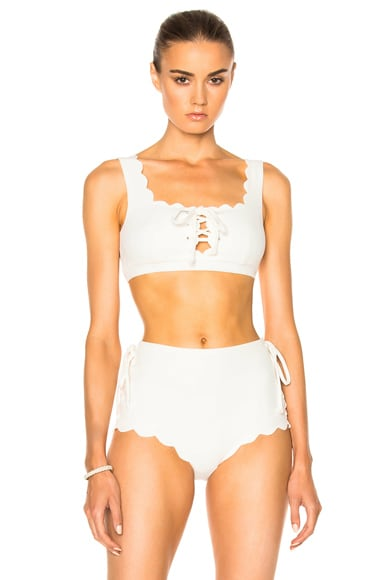 Marysia Swim Palm Springs Tie Bikini Top in Coconut
