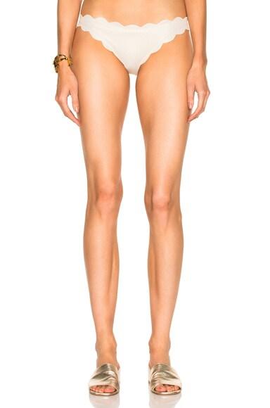 Marysia Swim Antibes Bikini Bottom in Metallic Cream