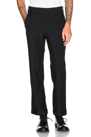 Marni Cotton Wool Gabardine Trousers in Black