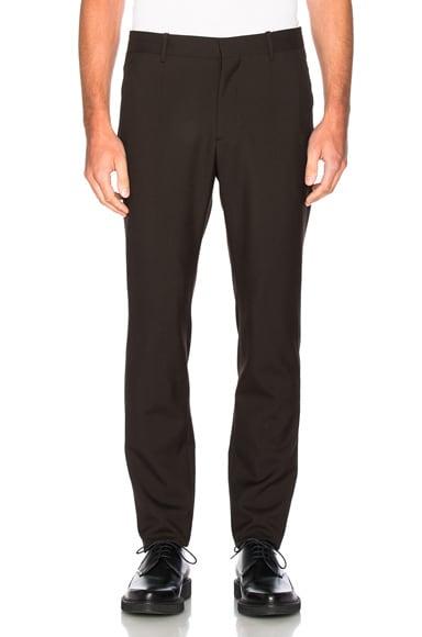 Marni Tropical Wool Slim Trousers in Brown