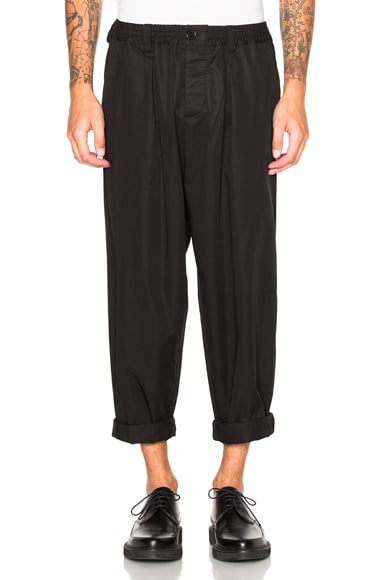 Marni Light Washed Cotton Pants in Black