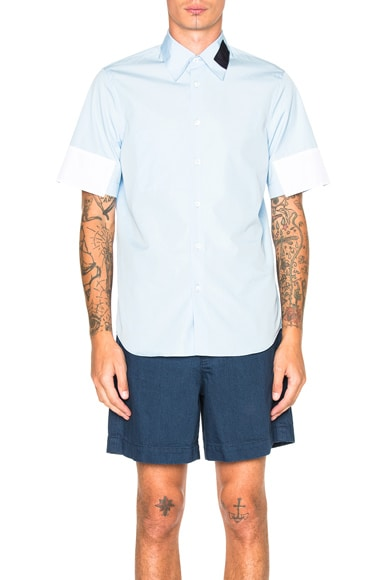 Marni Dry Twisted Cotton Shirt in Light Blue