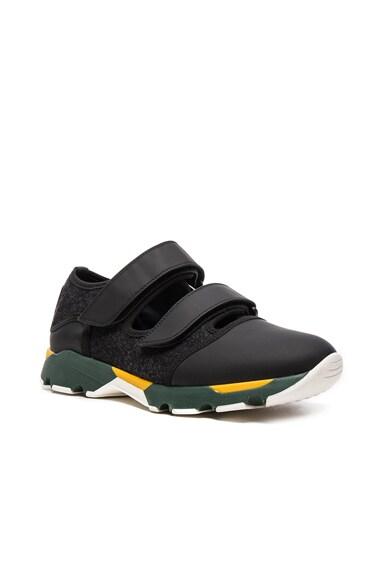 Marni Felt Sneakers in Black