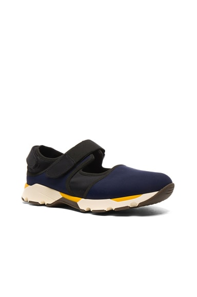 Marni Sneakers in Black & Blue