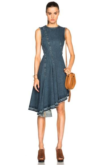 Marni Asymmetrical Jean Dress in Blue