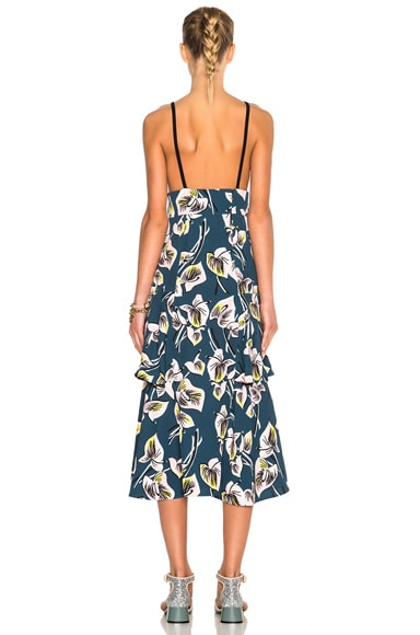 Printed Tiered Tank Dress