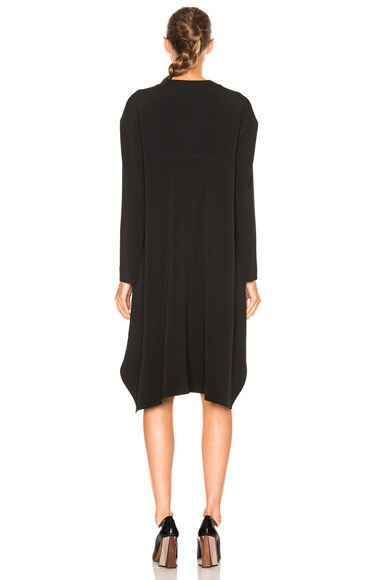 Stretch Cady Long Sleeve Dress