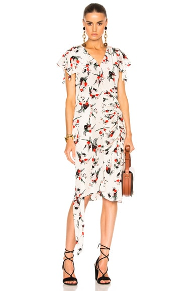 Printed Short Sleeve Dress