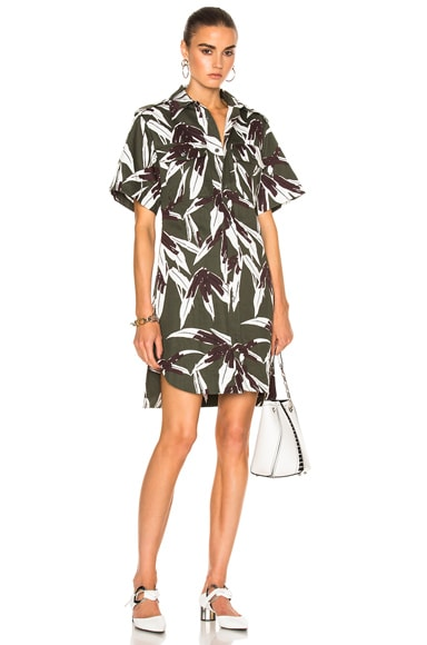 Printed Button Up Dress