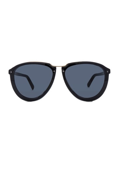 Marni Acetate & Metal Sunglasses in Black