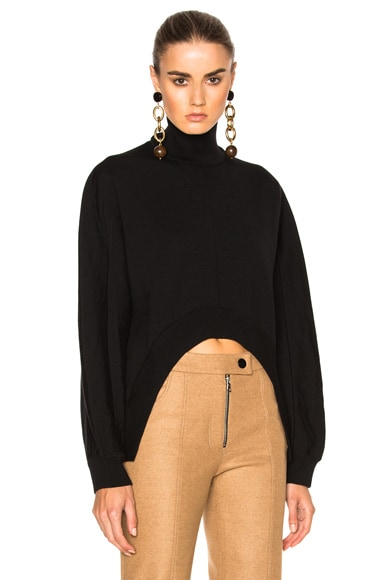 Marni Virgin Wool Turtleneck Sweater in Black
