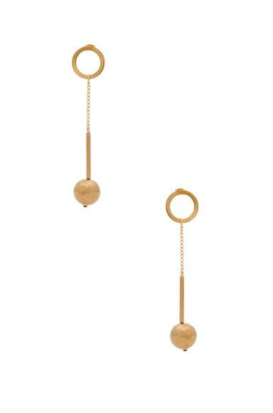 Marni Metal Earrings in Old Gold