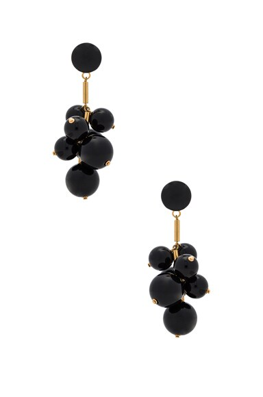 Marni Resin Earrings in Black