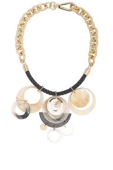 Marni Horn Necklace in Pale Gold