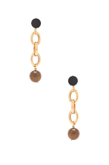 Marni Metal Earrings in Cocoa