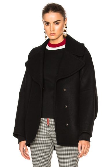 Marni Double Wool Cover Jacket in Black