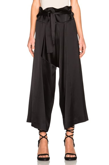 Marni Crepe Satin Pants in Black