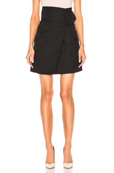 Marni Wool Gabardine Skirt in Black