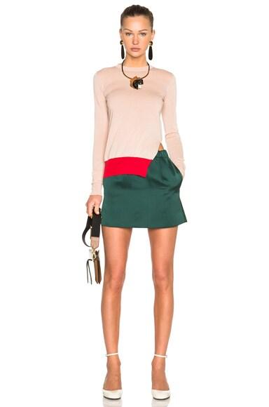 Double Satin Mini Skirt