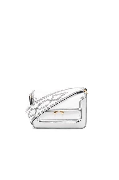 Marni Mini Trunk Bag with Embroidered Strap in Limestone