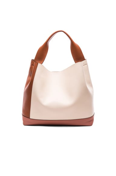 Marni Leather Shoulder Bag in Apricot, Glass & Rock