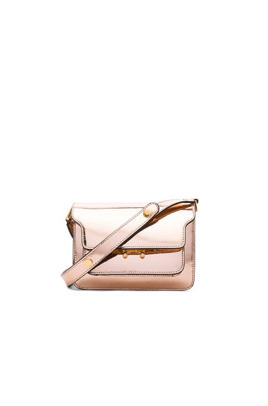 Marni Mini Metallic Trunk Bag in Macaroon