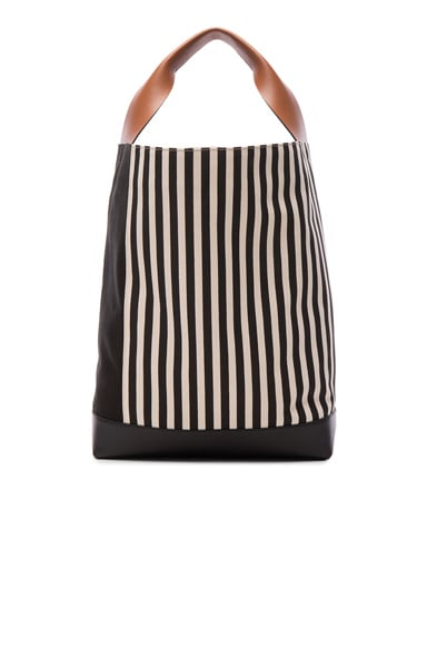 Canvas Stripe Shoulder Bag